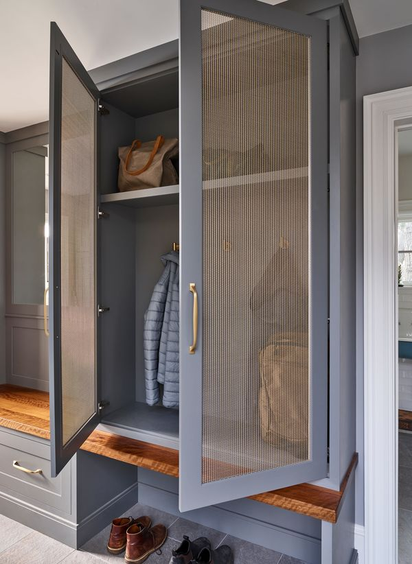 This Old House Gray Lodge Tall Interior Mudroom Built In