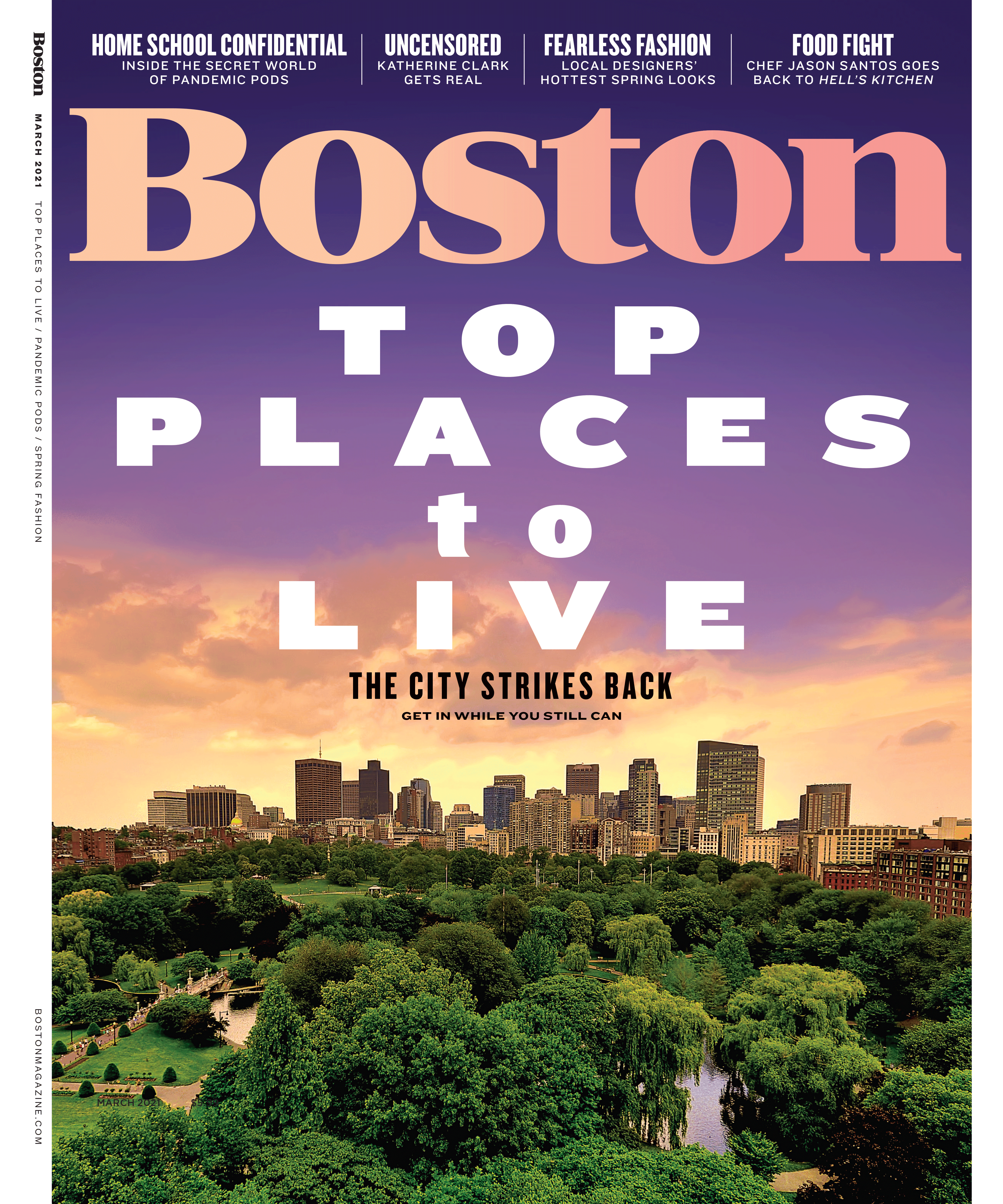 Boston Magazine Name That Tune March Issue 2021 Cover