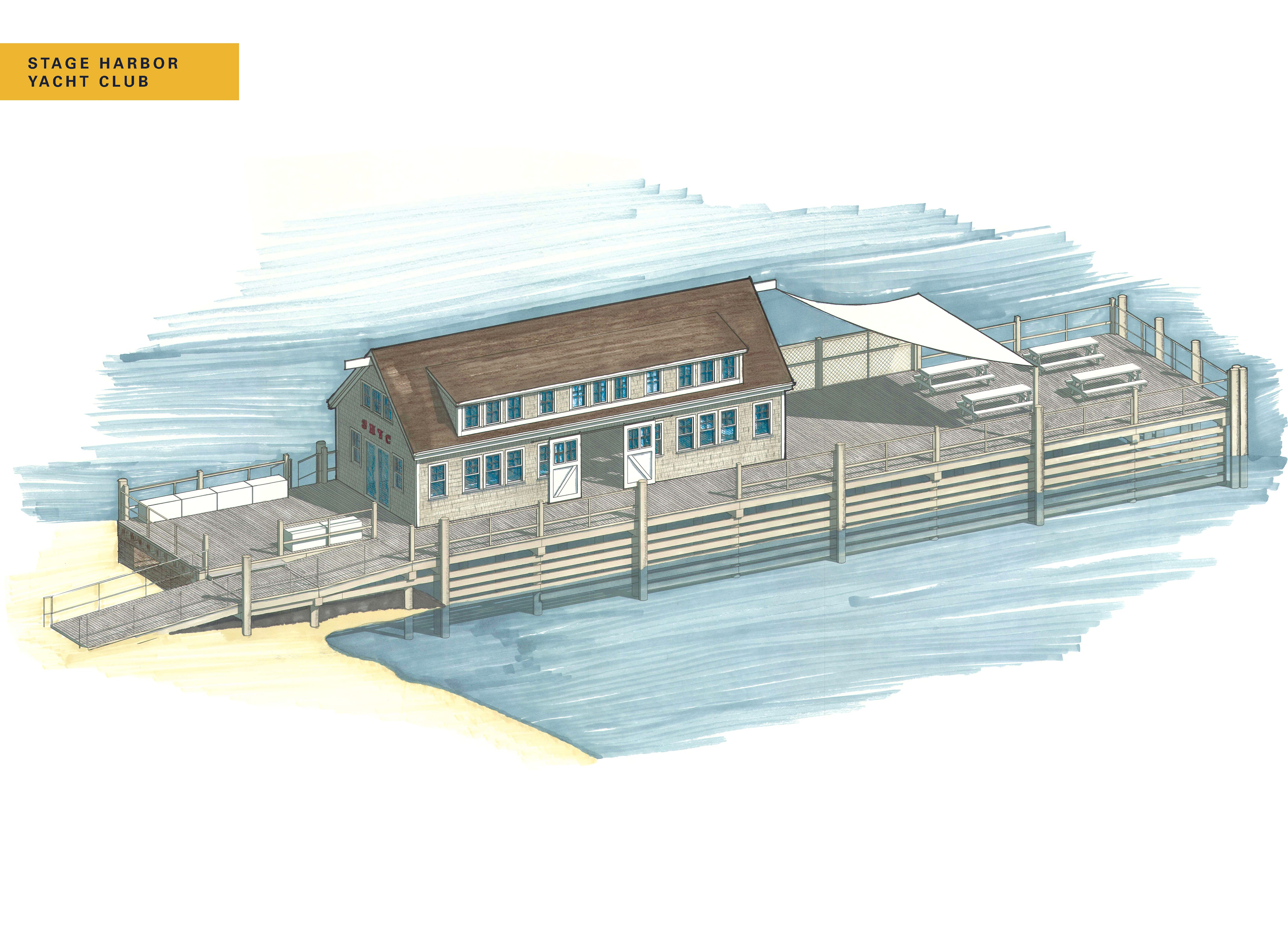 Stage Harbor Yacht Club Hero Rendering with name